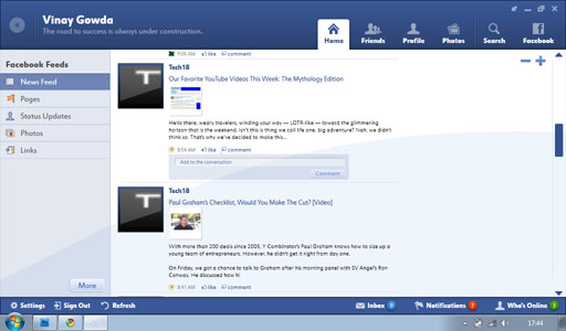 Fishbowl Home1 Fishbowl : Facebook Desktop Application by Microsoft
