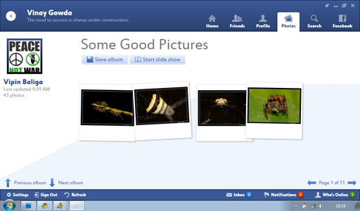 Fishbowl Save Album1 Fishbowl : Facebook Desktop Application by Microsoft