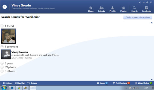 Fishbowl Search Result1 Fishbowl : Facebook Desktop Application by Microsoft