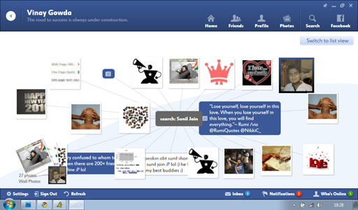 Fishbowl Search View1 Fishbowl : Facebook Desktop Application by Microsoft