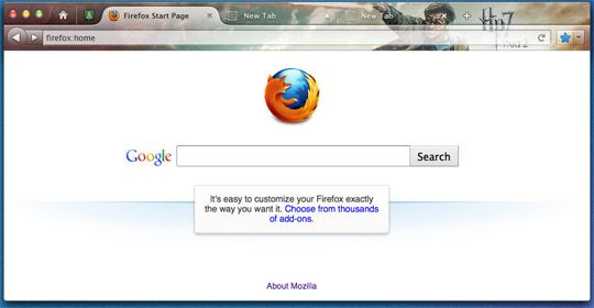 firefox ui change mac homepage Mozilla Revamps Firefox UI Again!   Looks Exactly Like Chrome?
