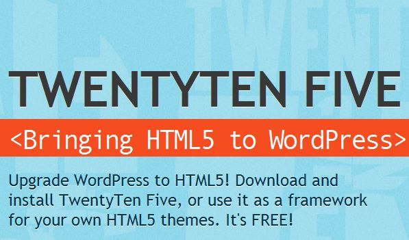 2 twentytenfive html5 wordpress theme 10 Best Free HTML5 Wordpress Themes