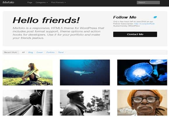 4 html5 wordpress theme 10 Best Free HTML5 Wordpress Themes