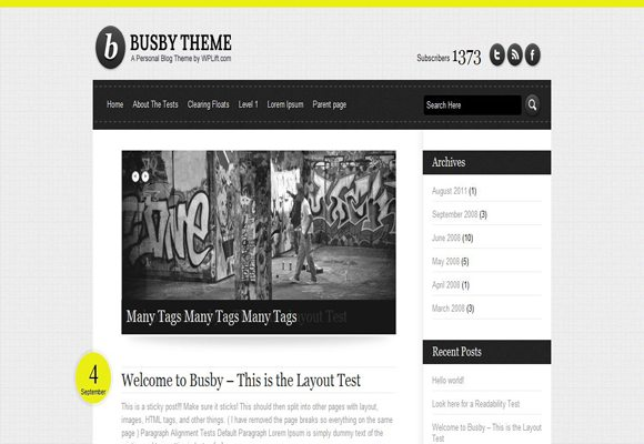 6 html5 wordpress theme 10 Best Free HTML5 Wordpress Themes