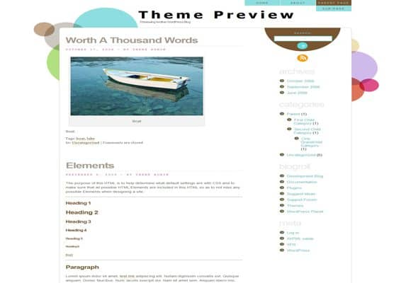 7 html5 wordpress theme 10 Best Free HTML5 Wordpress Themes
