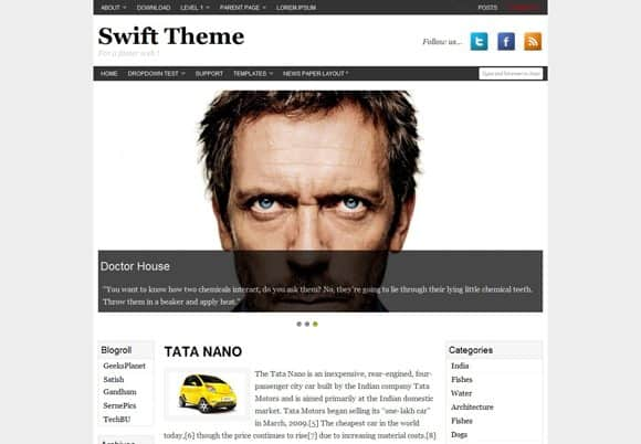 8 html5 wordpress theme 10 Best Free HTML5 Wordpress Themes